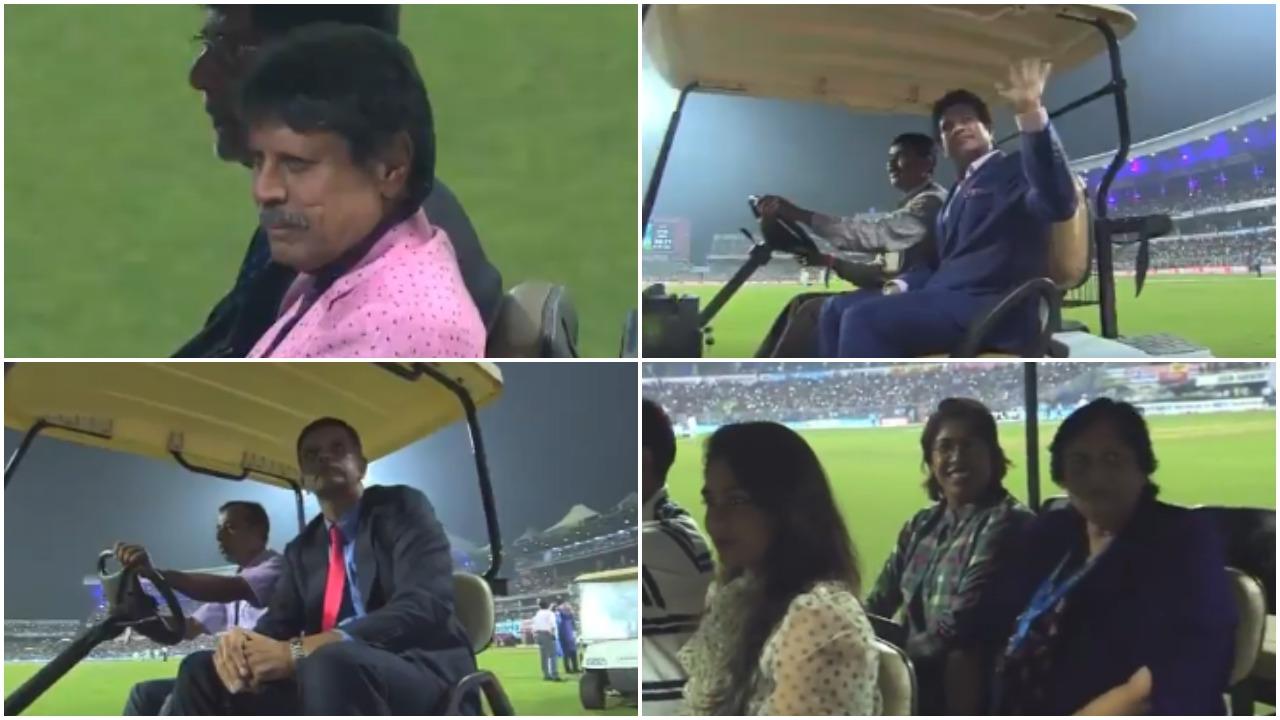 भारतीय क्रिकेट के बड़े दिग्गजों ने ईडन गार्डन्स में दर्शकों का अभिवादन स्वीकार किया, देखें वीडियो 4