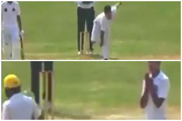 वीडियो : पाकिस्तान का यह 16 वर्षीय युवा तेज गेंदबाज आउट करने के बाद बल्लेबाज को करता है नमस्ते