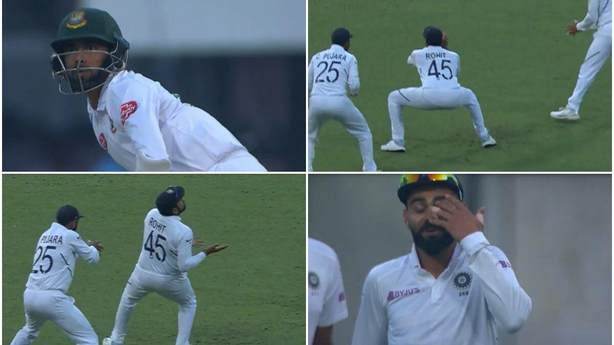 वीडियो : रोहित-पुजारा ने मिलकर पकड़ा शानदार कैच, देखने लायक थी कप्तान विराट की प्रतिक्रिया