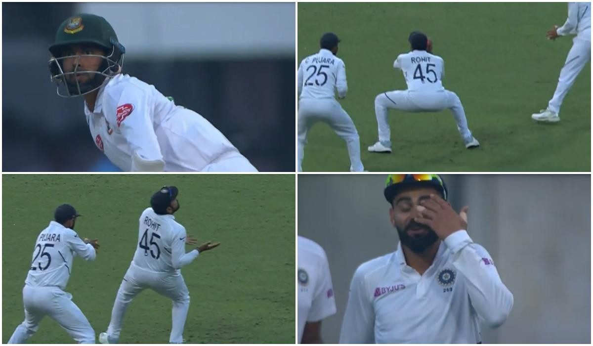 वीडियो : रोहित-पुजारा ने मिलकर पकड़ा शानदार कैच, देखने लायक थी कप्तान विराट की प्रतिक्रिया 1