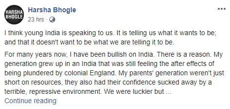 ऑस्ट्रेलियन पत्रकार ने CAA के मुद्दे पर किया भारत विरोधी कमेन्ट, हर्षा भोगले ने दिया करारा जवाब 3