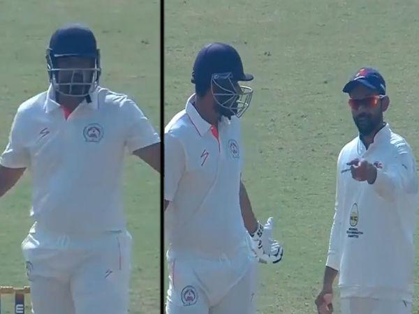 मुंबई-बड़ौदा रणजी मैच में युसुफ पठान और अजिंक्य रहाणे के बीच इस बात को लेकर बहस