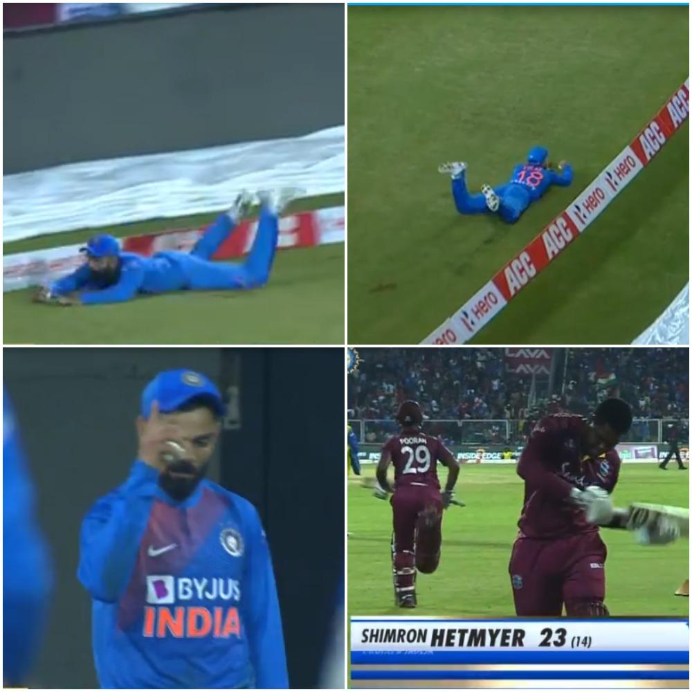 IND vs WI- हार के बाद भी विराट कोहली के इस हैरतअंगेज कैच ने बटोरी सुर्खियां, देखे वीडियो 7