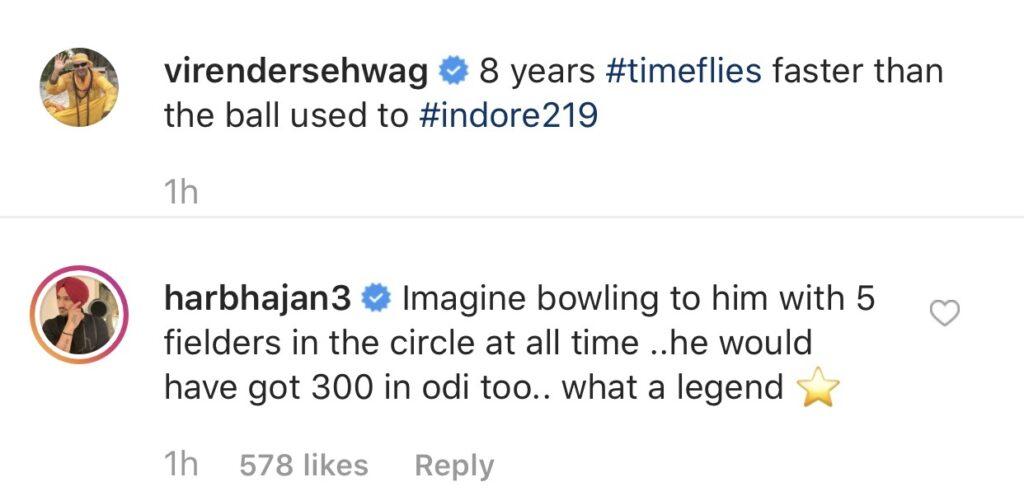 हरभजन सिंह के अनुसार वीरेंद्र सहवाग वनडे क्रिकेट में बना सकते थे तिहरा शतक 4