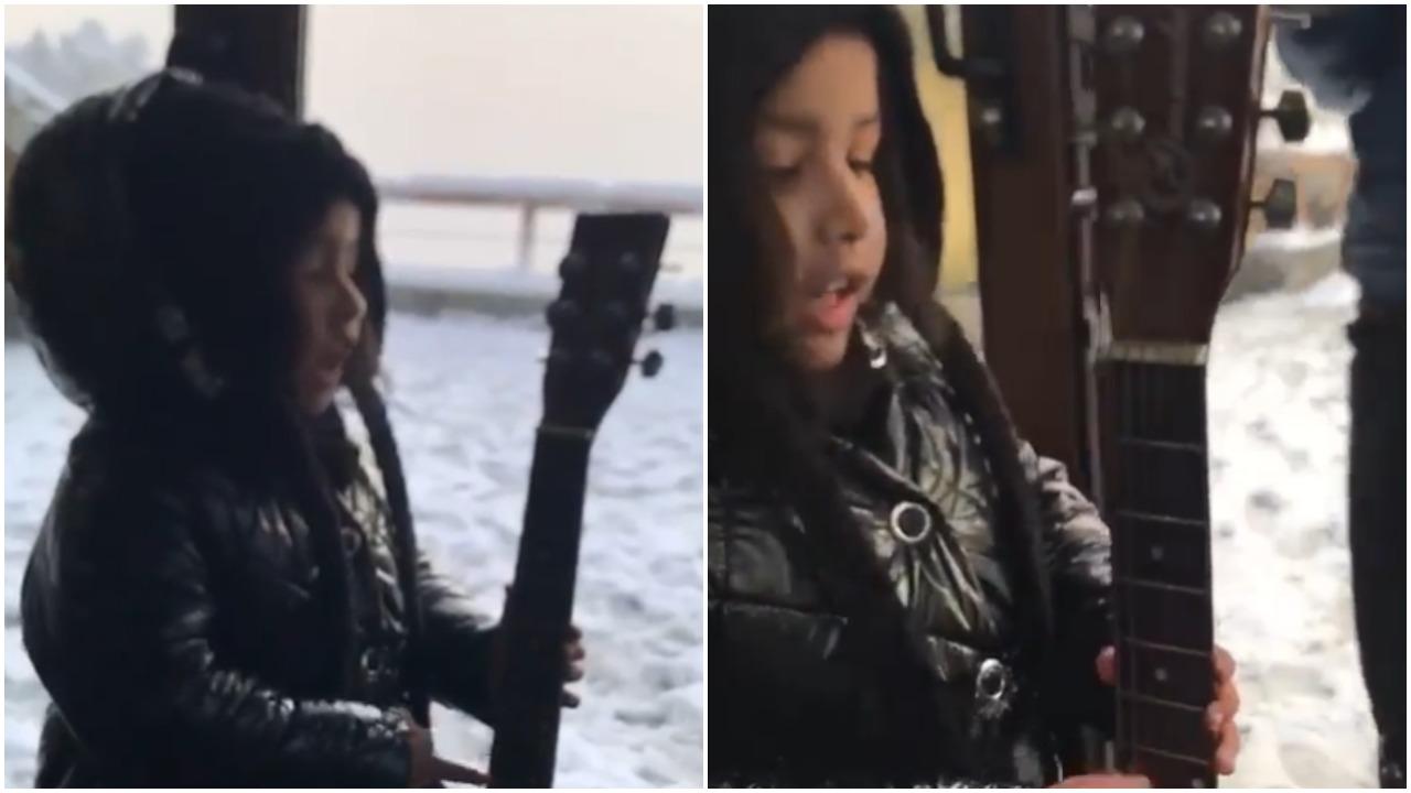 महेंद्र सिंह धोनी ने गिटार बजाकर गाना गाते हुए बेटी जीवा का वीडियो किया शेयर 7