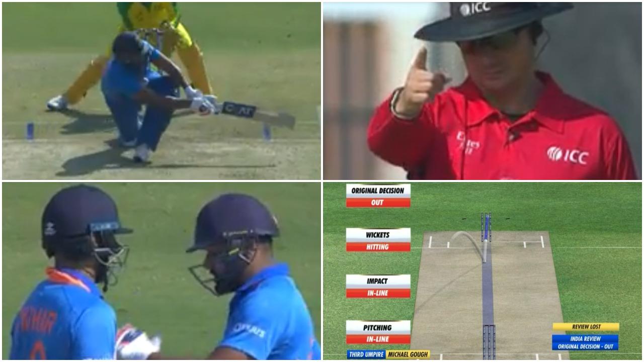 IND vs AUS, दूसरा वनडे: रोहित शर्मा ने अच्छी शुरुआत के बाद फेंका अपना विकेट, देखें वीडियो 11