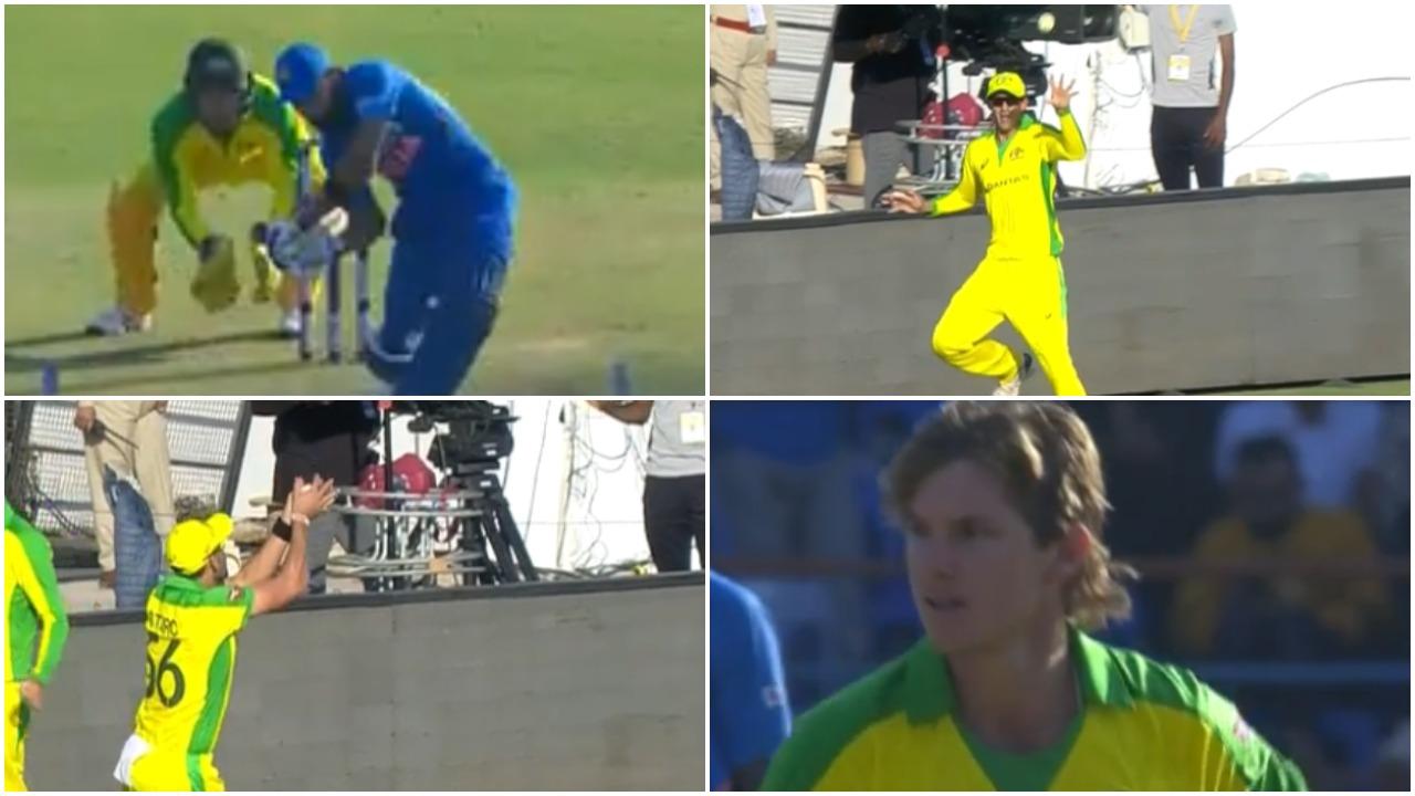 IND vs AUS, दूसरा वनडे: विराट कोहली फिर बने एडम जम्पा का शिकार, देखें वीडियो 8