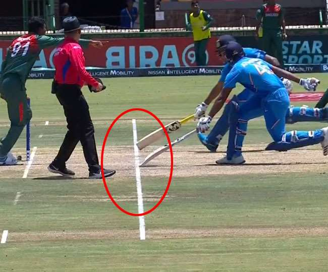 VIDEO : भारतीय बल्लेबाजों ने दोहराई पकिस्तान की गलती, अजीबोगरीब तरह से हुए रन आउट 6