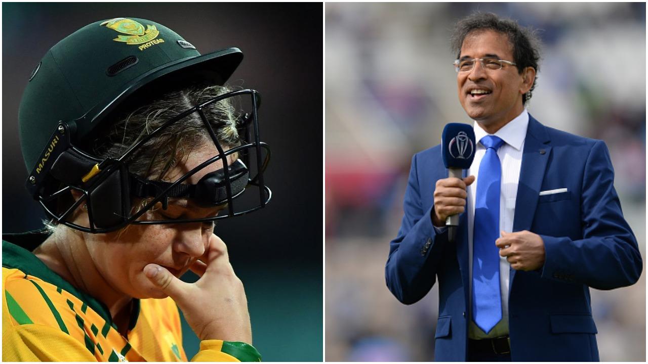 """महिला टी-20 विश्व कप: दक्षिण अफ्रीका की कप्तान ने हार के बाद भारत का """"फ्री फाइनल पास"""" कहकर उड़ाया मजाक, तो हर्षा भोगले ने दिया जवाब 11"""