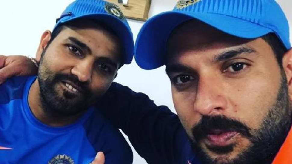 युवराज सिंह ने रोहित शर्मा को कर दिया ट्रोल, कहा गालों के दोनों तरफ तुमने गुलाब जामुन रखा हैं 10