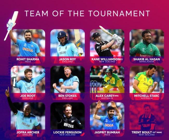 आईसीसी ने विश्व कप 2019 के एक साल पूरे होने पर चुनी टीम ऑफ द टूर्नामेंट, भारत के इन दो खिलाड़ियों को दी जगह 3