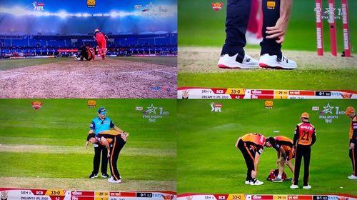 RCBvsSRH: सनराइजर्स को लगा बड़ा झटका, मुख्य खिलाड़ी मैच के दौरान हुआ चोटिल, देखें वीडियो 7