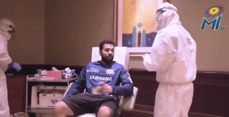 WATCH: कुछ इस तरह हो रहा यूएई में खिलाड़ियों का कोरोना टेस्ट, वीडियो आया सामने 3