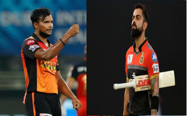 SRHvRCB: इस युवा गेंदबाज ने लिया विराट कोहली का विकेट, 14 रन बनाकर हुए आउट, देखें वीडियो 1