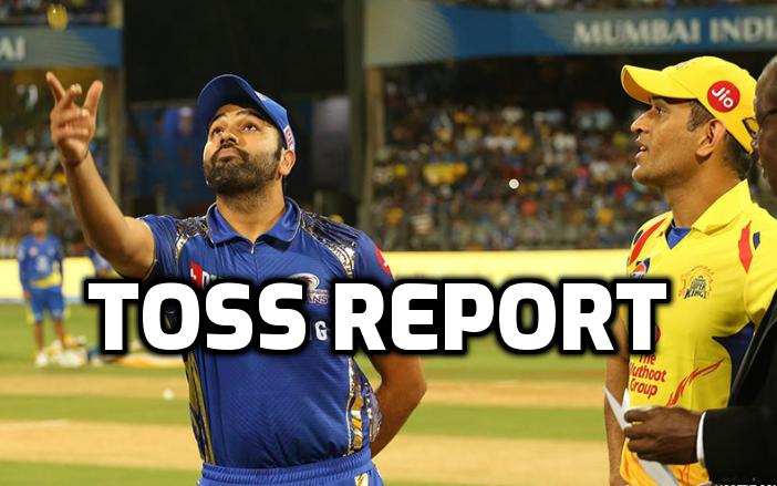 CSK vs MI : टॉस रिपोर्ट : चेन्नई ने जीता टॉस, इस प्रकार हैं दोनों टीमों की प्लेइंग इलेवन 1