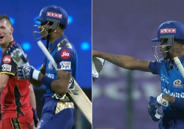 आईपीएल 2020- मैच के दौरान भिड़ गए हार्दिक पंड्या और क्रिस मौरिस, मैच रैफरी ने लिया ये एक्शन 4
