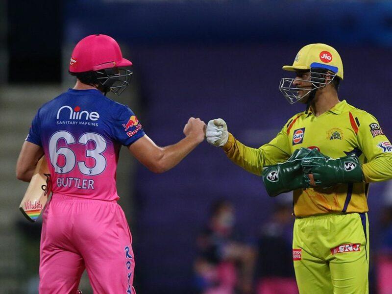 आईपीएल 2020- जोस बटलर को चेन्नई सुपर किंग्स के खिलाफ मैच के बाद धोनी से मिला खास तोहफा 12