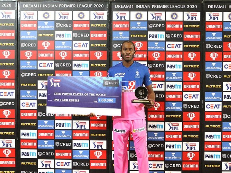 आईपीएल 2020- चेन्नई सुपर किंग्स पर जीत के बाद जोफ्रा आर्चर ने बताया स्पिनरों की मददगार पिच पर उन्हें कैसे मिल रही सफलता 11