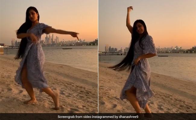 आईपीएल 2020-  युजवेन्द्र चहल की मंगेतर धन श्री वर्मा ने दुबई में समंदर के किनारे किया डांस, फैंस का जीत लिया दिल 5