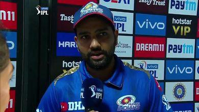 RRvsMI: जीत के बाद रोहित शर्मा ने बुमराह को नजरअंदाज कर इस खिलाड़ी को दिया जीत का श्रेय 4