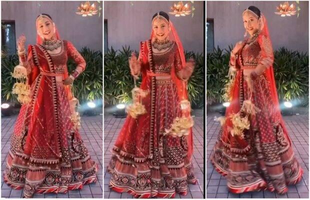 दुल्हन के ड्रेस में माधुरी दीक्षित के गाने पर डांस करती हुई नजर आई धनश्री वर्मा, वीडियो हुआ वायरल 1