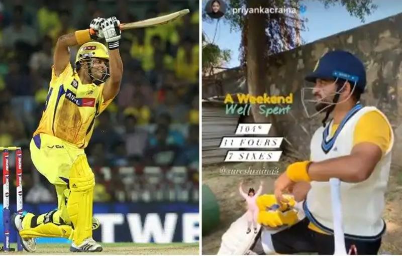 हरियाणा में आया सुरेश रैना नाम का तूफान मात्र 46 गेंदों में बनाये नाबाद 104 रन 5