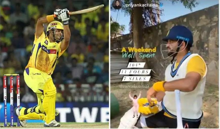 हरियाणा में आया सुरेश रैना नाम का तूफान मात्र 46 गेंदों में बनाये नाबाद 104 रन 1