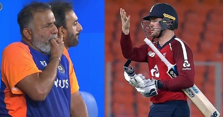 वीडियो : चहल ने लिया जेसन रॉय का विकेट, तो गेंदबाजी कोच भरत अरुण सीटी बजाते आए नजर 11