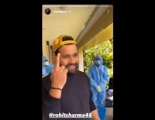 WATCH : 'कैसे हो भैया?' के जवाब में रोहित शर्मा ने पंत को दिखाई मिडिल फिंगर, देखें वीडियो 6