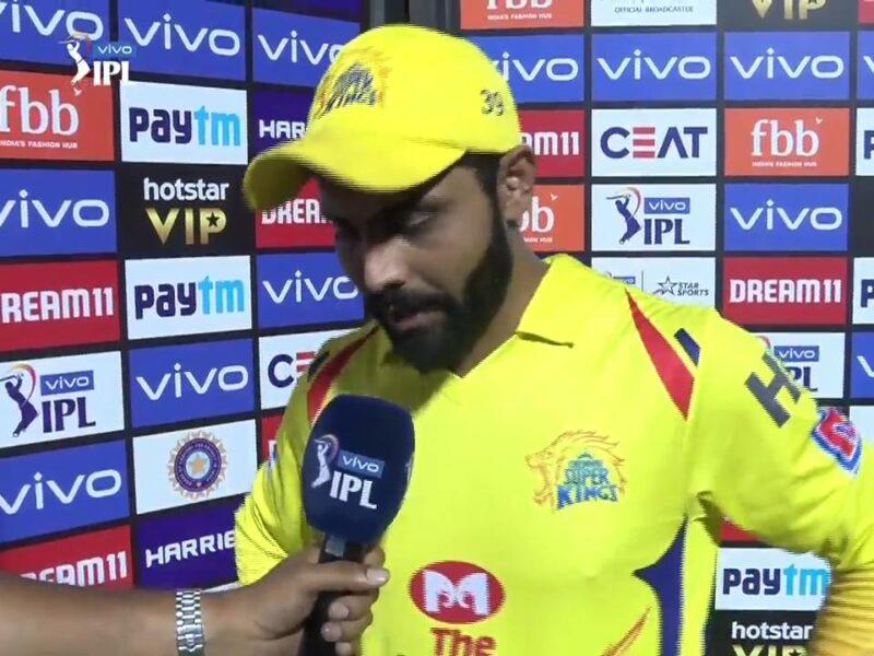 CSKvsRCB : 'मैन ऑफ़ द मैच' रविन्द्र जडेजा ने कप्तान धोनी के बोली ऐसी बात, जीत लिया माही फैंस का दिल 1