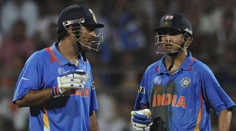 india gambhir and dhoni