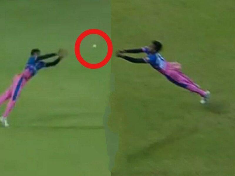 WATCH : चेतन साकरिया ने सुपरमैन की तरह हवा में छलांग लगाकर पकड़ा ऐसा कैच, देख हर कोई दंग 6