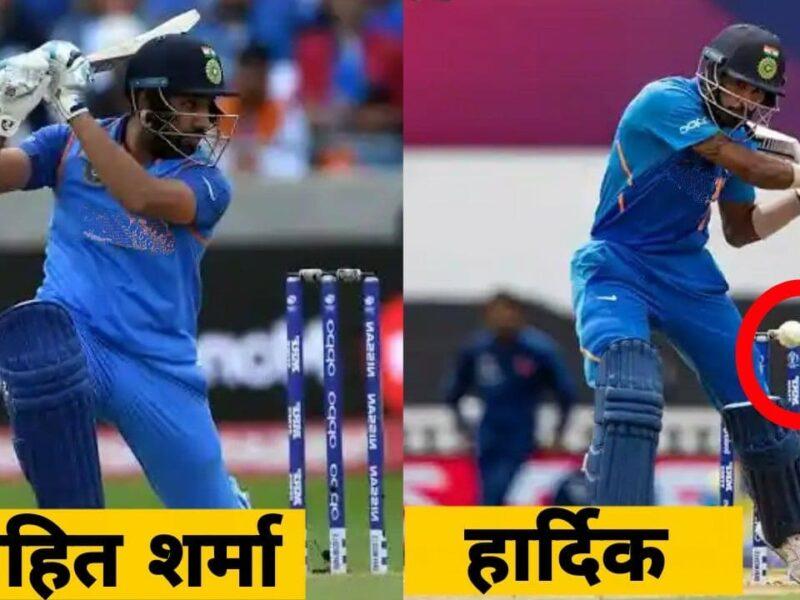 रोहित शर्मा और हार्दिक ने बाएं हाथ से की बल्लेबाजी, पांड्या हुए जल्दी आउट, हिटमैन ने किया कमाल 5