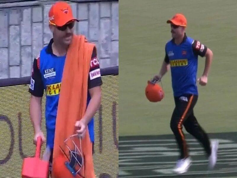 IPL 2021: टीम से बाहर होने के बाद डेविड वॉर्नर ने 12वां खिलाड़ी बनकर किया कुछ ऐसा जीत लिया सभी का दिल 11