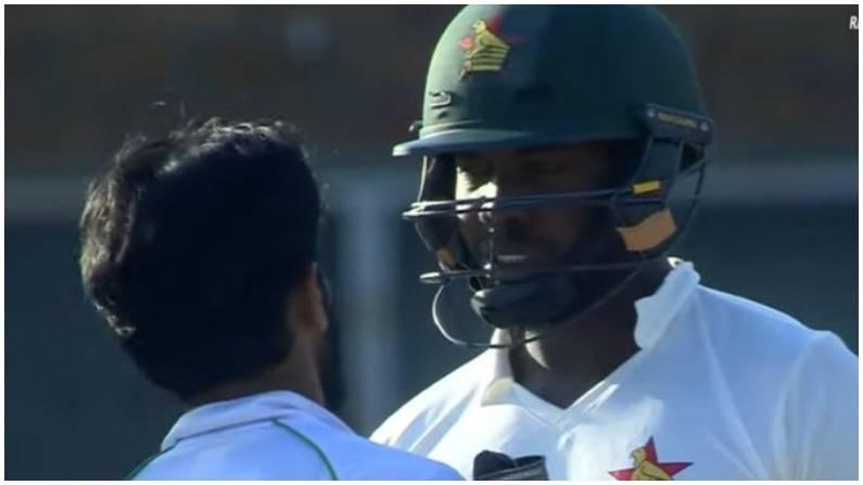 VIDEO: मैदान पर भिड़े पाक-जिम्बाब्वे के खिलाड़ी, पांच गेंदों तक कुछ यूं चला ड्रामा, जीभ निकालकर गेंदबाजी करते नजर आए अली 4