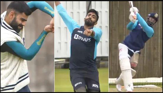 WTC फाइनल के लिए भारतीय टीम की प्रैक्टिस का वीडियो आया सामने, पंत लगा रहे एक हाथ से छक्के 2