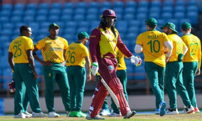 दूसरे टी-20 में बुरी तरह फेल हुए गेल, पोलार्ड, रसेल, अफ्रीका ने वेस्टइंडीज को 16 रन से हराया 6