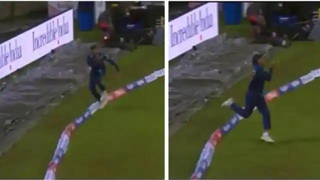 श्रीलंका के खिलाफ दूसरे टी20 में राहुल चाहर ने बाउंड्री पर पकड़ा ऐसा हैरतअंगेज कैच, देख नहीं होगा आँखों पर यकीन 15