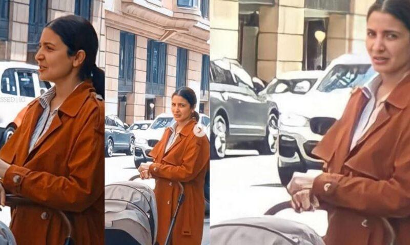 बेटी वामिका के साथ इंग्लैंड की सड़कों पर घूमती नजर आईं अनुष्का शर्मा, देखें विराट की बेटी का चेहरा 7