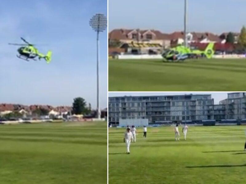 LIVE मैच के दौरान मैदान पर हुई हेलीकॉप्टर की एंट्री, 17 मिनट तक रुका रहा खेल, देखें वीडियो 13