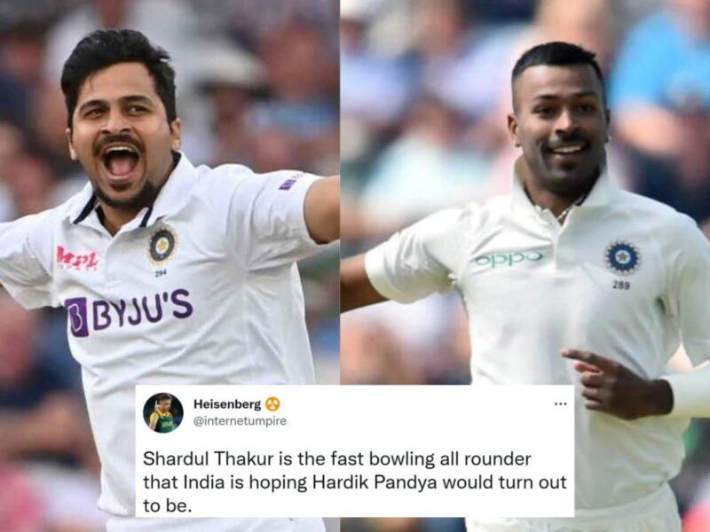 ENG vs IND: पहली पारी के बाद दूसरी पारी में भी शार्दुल ठाकुर ने ठोका अर्द्धशतक, फैंस ने लिए हार्दिक पंड्या के मजे, कहा भारत को मिल गया पंड्या से बेहतर विकल्प 13