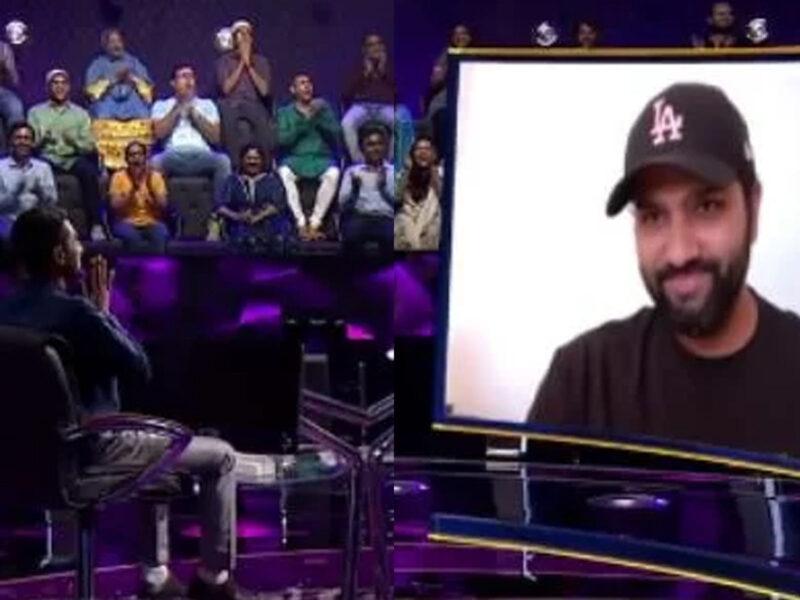 KBC में वीडियो कॉल पर रोहित शर्मा से बात कर भावुक हो गया जबरा फैन, 'भगवान से कौन बात करता है' 1