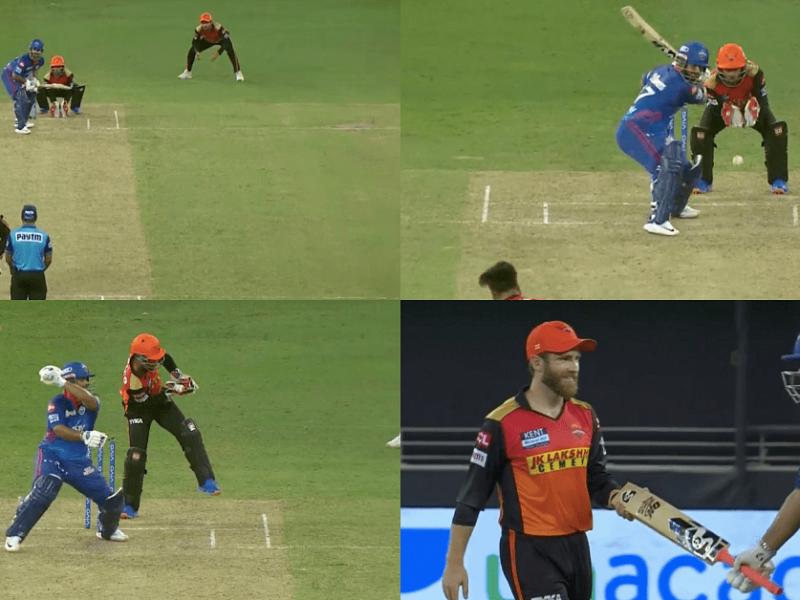 IPL 2021 DC Vs SRH: मैच के दौरान ऋषभ पंत के हाथ से छूट गया बल्ला देख केन विलियमसन की नहीं रुकी हंसी, देखें वीडियो 1