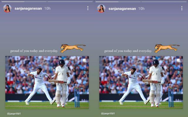 ओवल में जसप्रीत बुमराह ने गेंद से अंग्रेजो को किया पस्त तो पत्नी संजना गणेशन ने शेयर की ऐसी तस्वीर हुआ वायरल 14