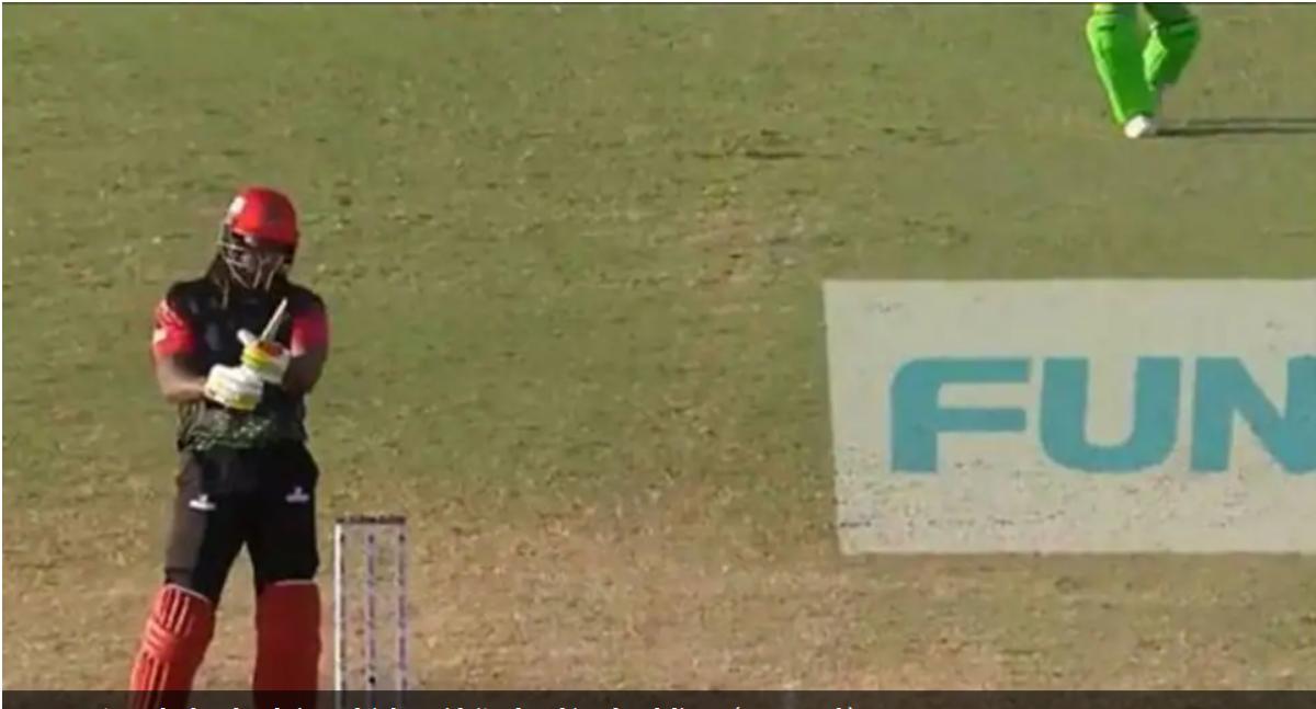 CPL 2021: बल्ला टूटने के बाद आक्रामक हुए क्रिस गेल, ठोक दिए 4 गेंदों पर 18 रन और फिर.... 1