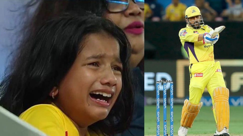 IPL 2021: चेन्नई सुपर किंग्स की जीत के लिए फूट-फूट पर रोने वाले लड़की ने जीता माही का दिल, मैच के बाद धोनी से मिला ख़ास गिफ्ट 1