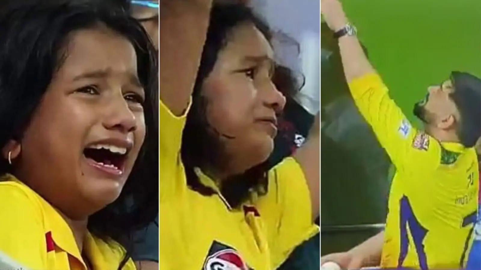 IPL 2021: चेन्नई सुपर किंग्स की जीत के लिए फूट-फूट पर रोने वाले लड़की ने जीता माही का दिल, मैच के बाद धोनी से मिला ख़ास गिफ्ट 2