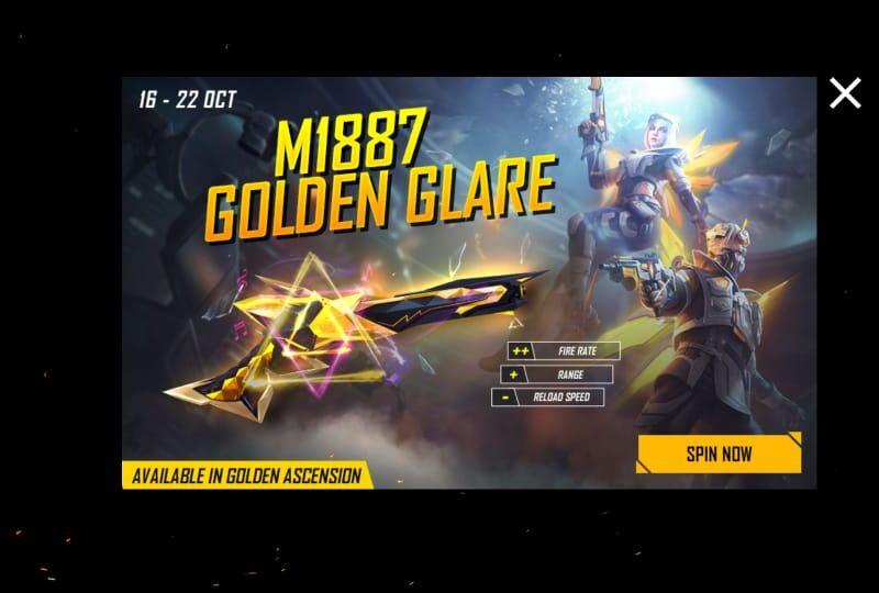 Free Fire में सबसे अद्भुद M1887 Golden Glare गन स्किन कैसे हासिल करें? 10